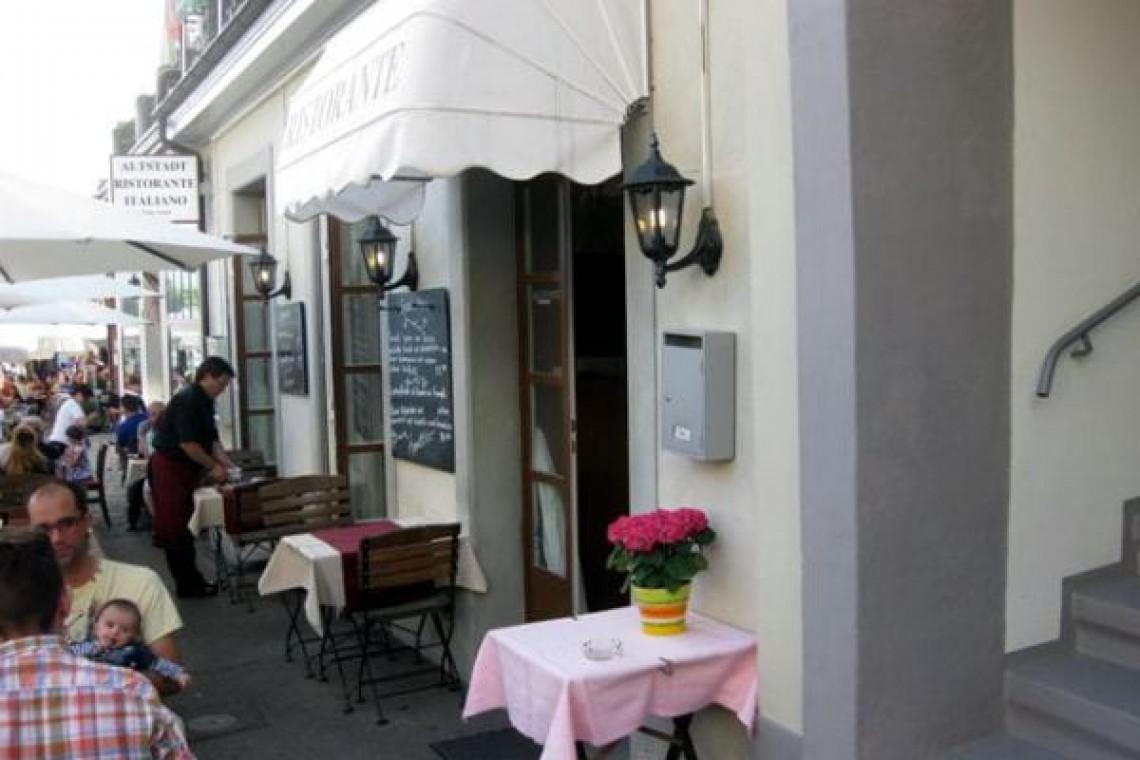 Aussenbereich Restaurant Eingang